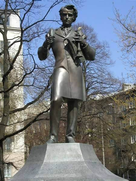 Monument of Taras Schevchenko in Warsaw